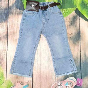 quần jean ống loe bé gái